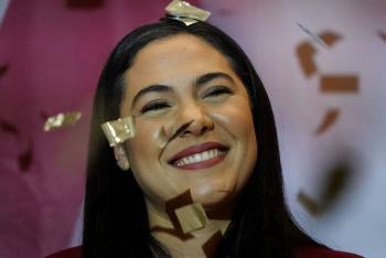 Indira Vizcaíno, confirma triunfo en Colima