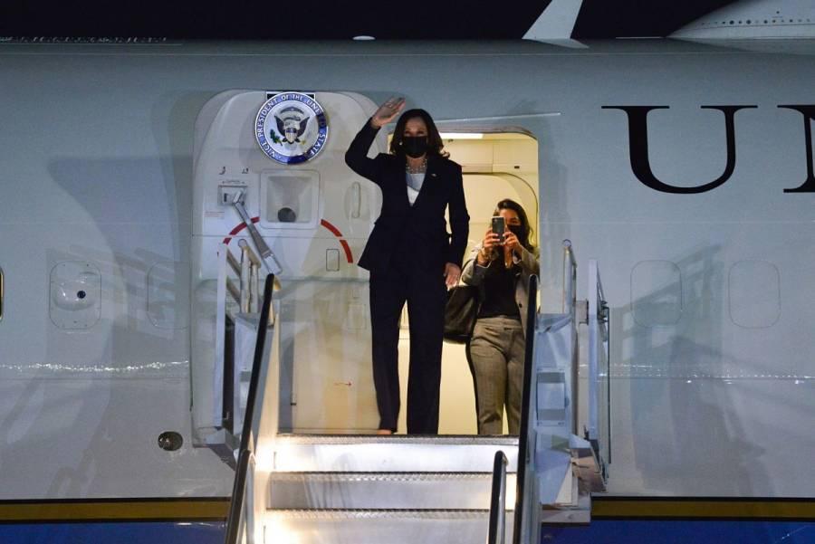 Kamala Harris, vicepresidenta de EEUU, llega a México