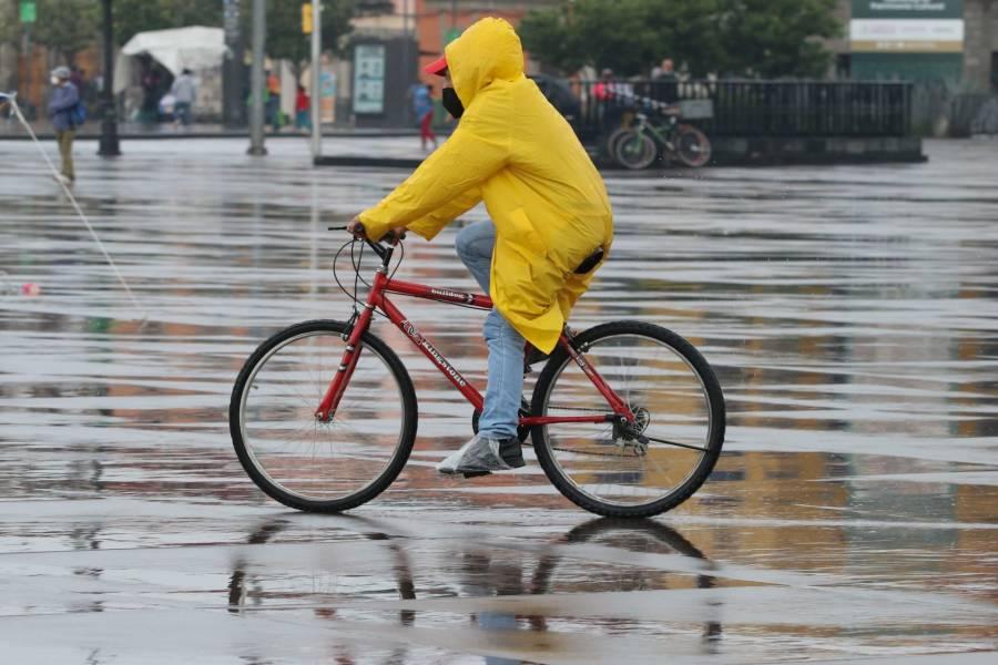 Activan alerta amarilla por fuerte lluvia en diversas alcaldías