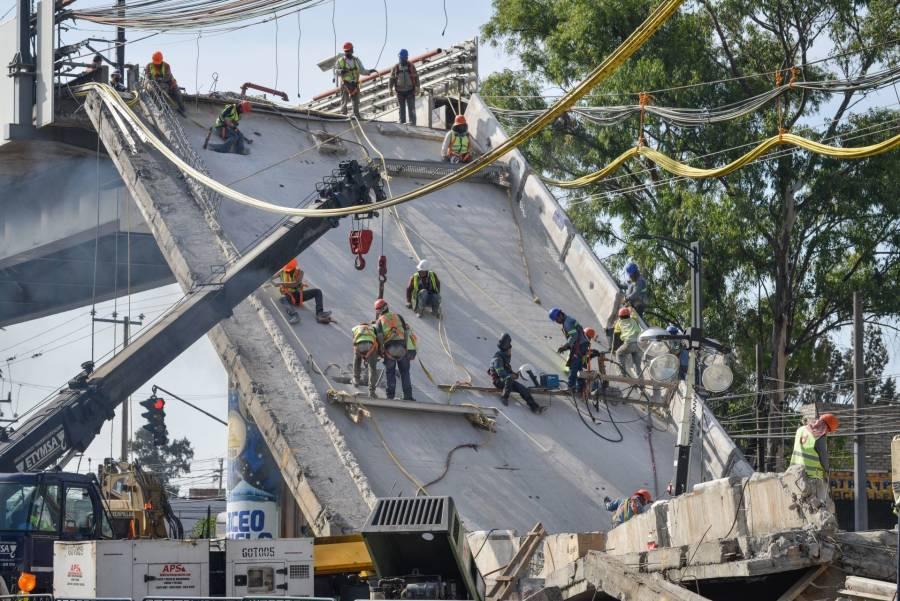 Baja a cinco el número de lesionados por colapso de la Línea 12