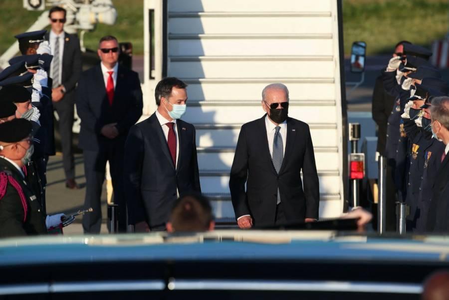 Joe Biden llegó a Bruselas para la cumbre con la OTAN y la UE