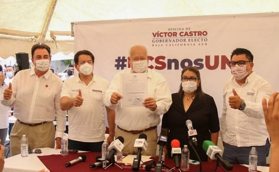 Entregan constancia a Victor Castro Cosío como gobernador de BCS; no habrá cacería de brujas, dice