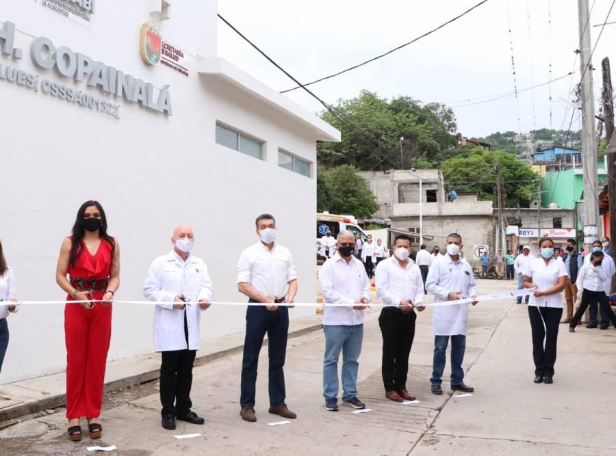 Inauguran reconversión del Centro de Salud Urbano con Hospitalización en Copainalá, Chiapas