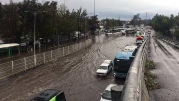 Se inunda paradero de Indios Verdes: C5