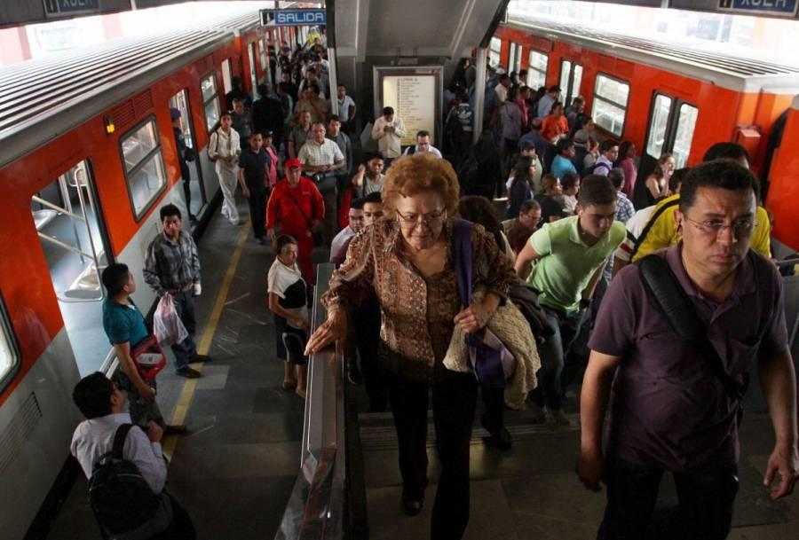 Por lluvias, suspenden servicio de Peñón Viejo a La Paz, en Línea A del Metro