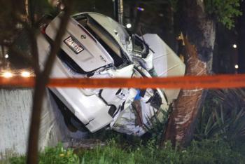 Mueren tres personas tras fuerte choque en Viaducto Miguel