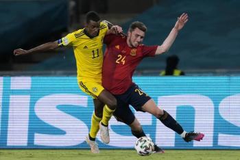 España se queda sin puntería ante Suecia en la Euro