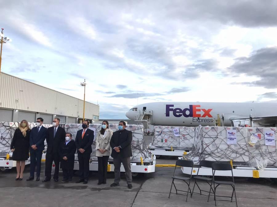 Vacunas Johnson & Johnson arriban a México provenientes de EEUU