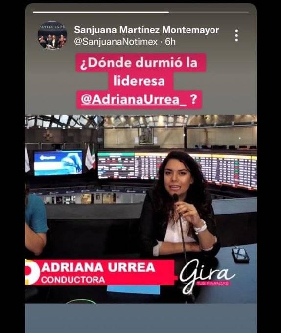 Condena SutNotimex acoso y persecución a Adriana Urrea