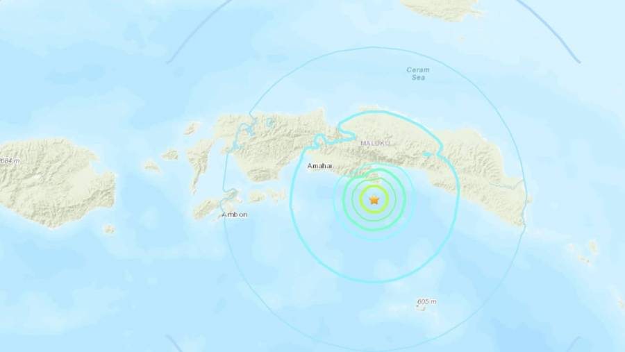 Sismo de magnitud 5.8 sacude a Indonesia