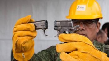 """Entregan a SEDENA armas y municiones del programa """"Sí al Desarme, Sí a la Paz"""""""