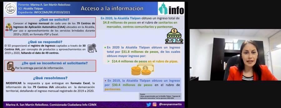 Ordena INFO CDMX a Tlalpan informar ingresos recibidos de mercados, estacionamientos y panteones