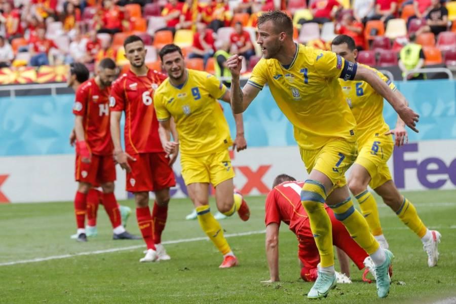 Ucrania vence 2-1 a Macedonia del Norte