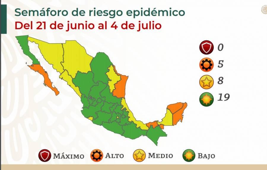 Salud pone a la CDMX en semáforo amarillo por COVID-19