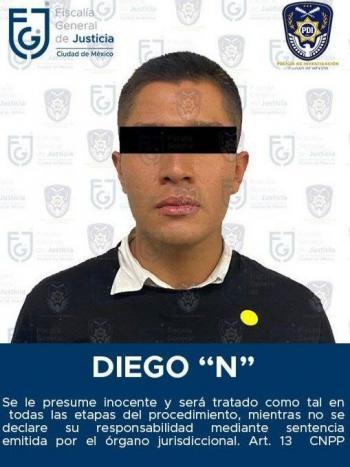 """Diego """"N"""" acusado de atropellar a Fer y Polly se entrega a la Fiscalia CDMX"""