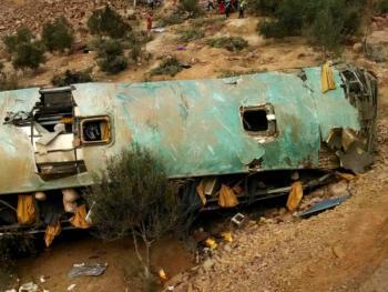 Un accidente de autobús en Perú deja 27 mineros muertos