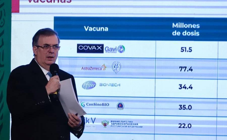 Marcelo Ebrard dio a conocer que México superó hoy 50 millones de vacunas contra COVID
