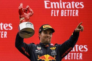 Checo Pérez se sube al podio del GP de Francia y Max Verstappen se corona
