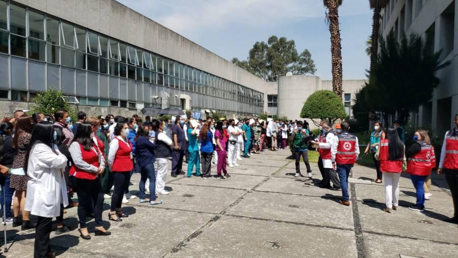 El Hospital Juárez de México participó en el Primer Simulacro Nacional 2021