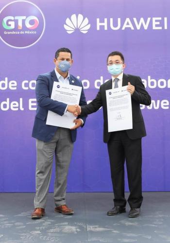 Gobierno de Guanajuato y Huawei firman convenio de colaboración