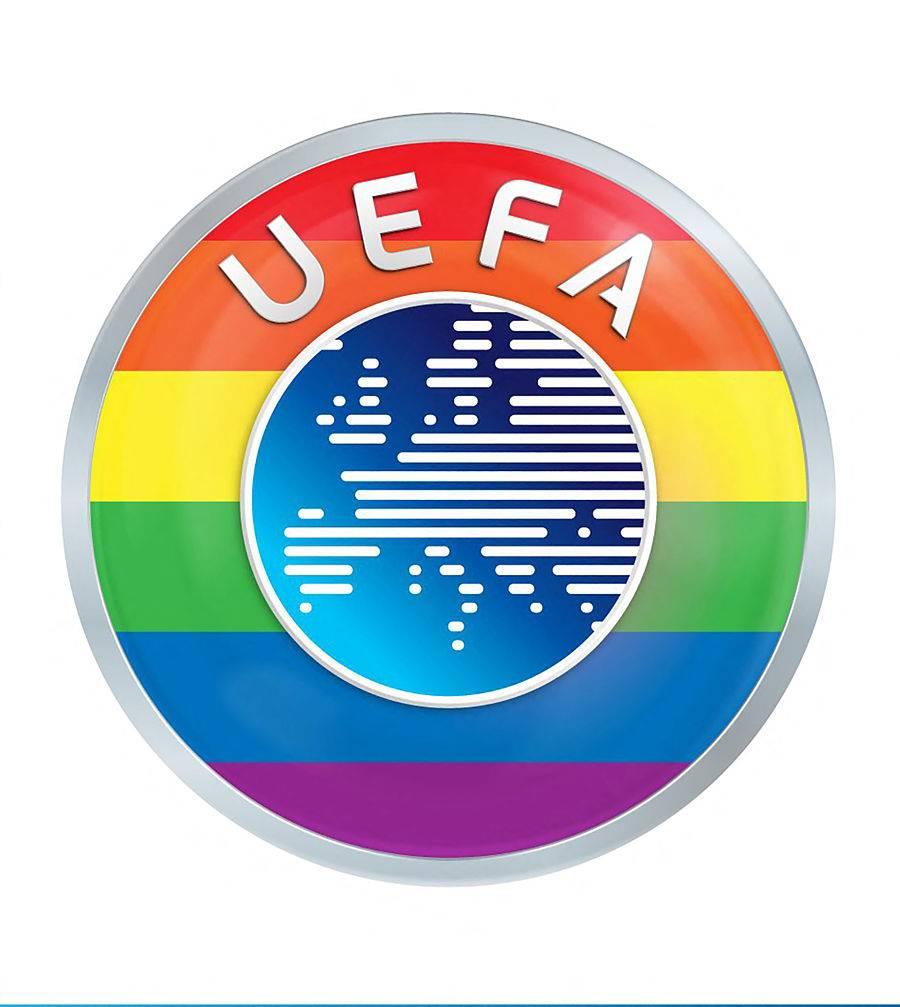 La UEFA defiende su decisión pero viste su logo con colores arcoíris