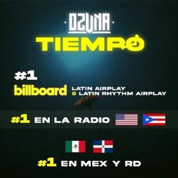 """""""Tiempo"""", de Ozuna, canción latina más escuchada en la radio de EUA, México y el Caribe"""