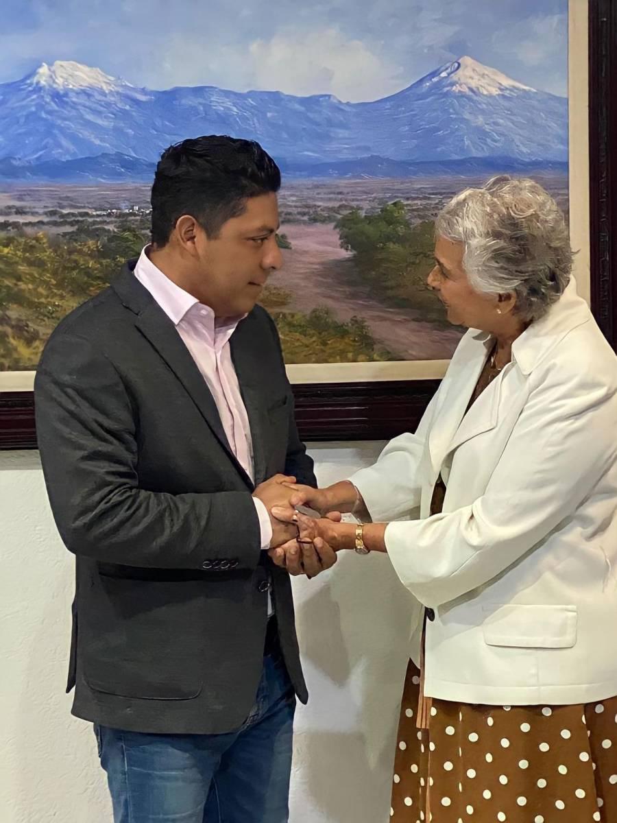 Olga Sánchez Cordero y Ricardo Gallardo Cardona acuerdan trabajar por SLP