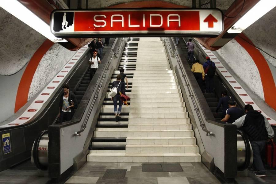 Niño sufre fractura en escaleras eléctricas del Metro Polanco