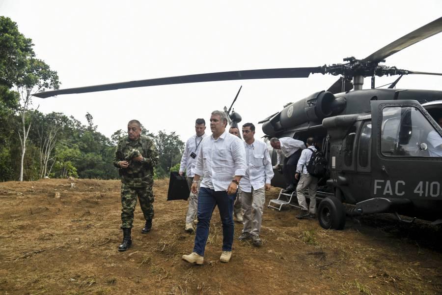 Disparan contra helicóptero en que viajaba Iván Duque, presidente de Colombia