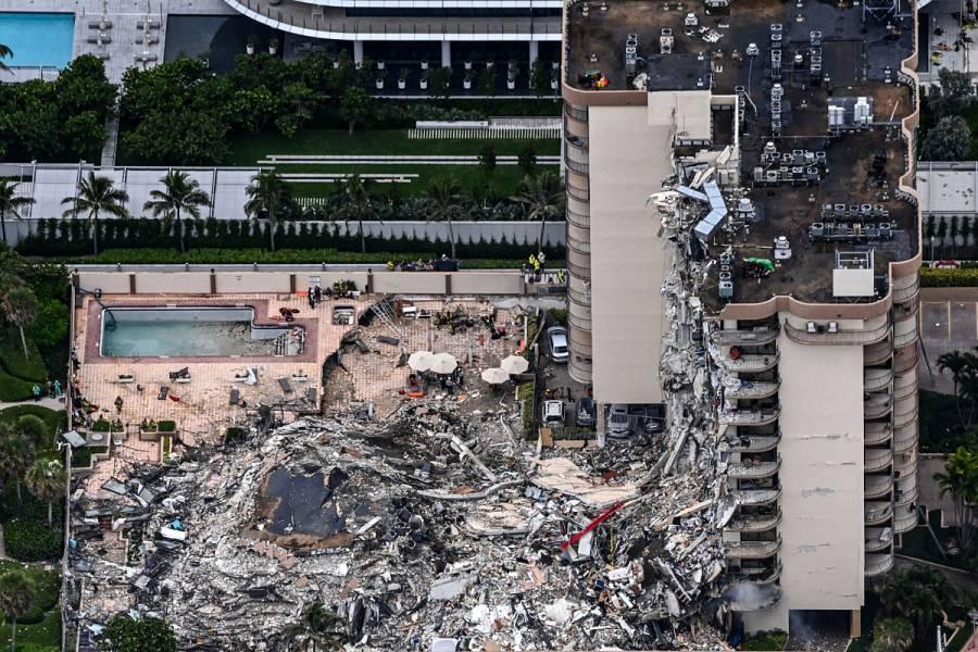 Suman cuatro muertos y 159 desaparecidos por colapso de edificio en Florida