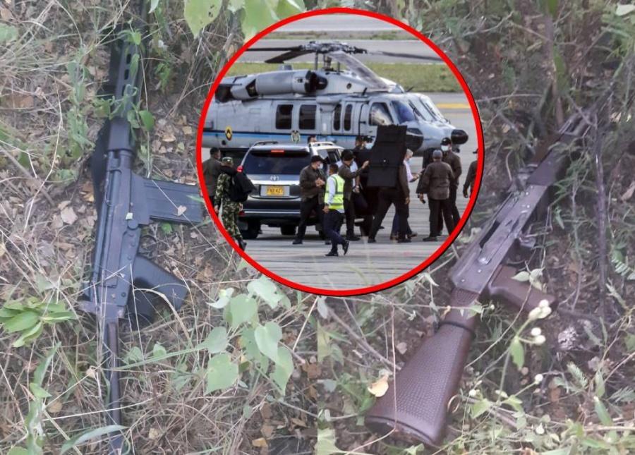 Encuentran dos fusiles con los que habrían atentado contra el presidente Duque