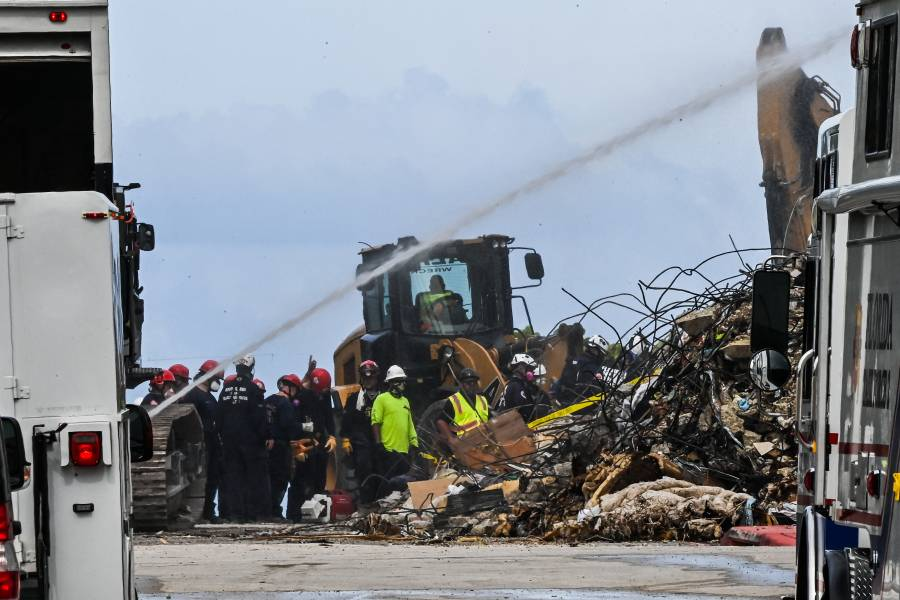 Asciende a cinco los muertos por colapso de edificio en Miami