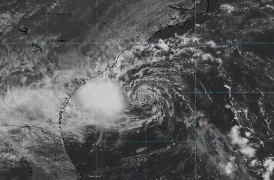 Danny se convierte en tormenta tropical y se ubica en las costas de Carolina del Sur