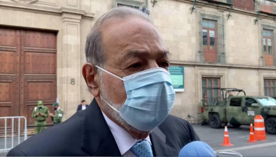 Tras reunión con AMLO, anuncia Carlos Slim que repararán tramo de Línea 12 del Metro