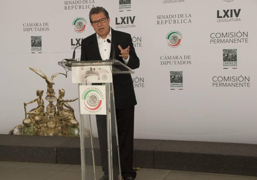 Ricardo Monreal aborda resultados de Morena en el Senado y entidades