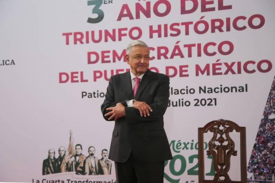 """""""Vamos avanzando en combate a la seguridad"""": López Obrador"""