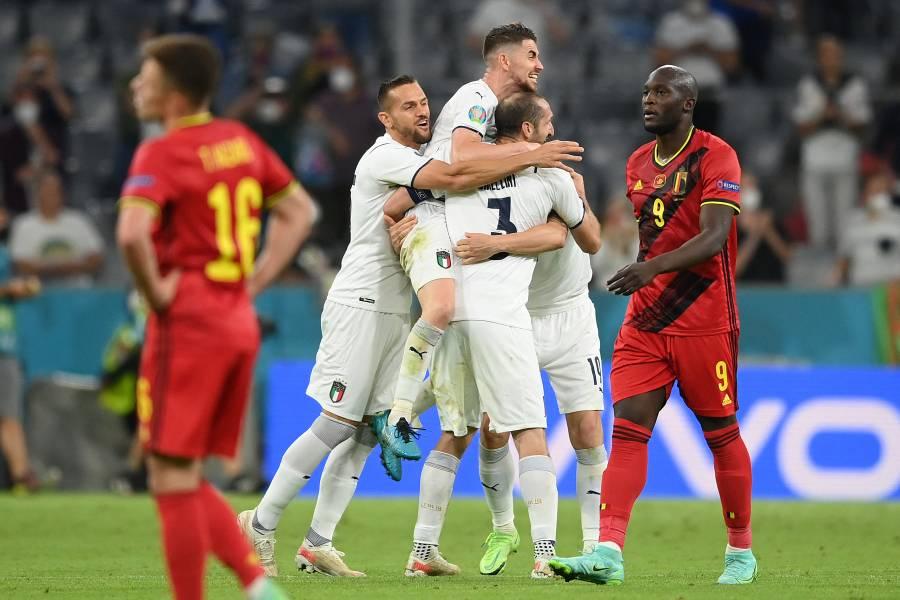 Eurocopa | Una sólida Italia supera a Bélgica y se mete a semifinales