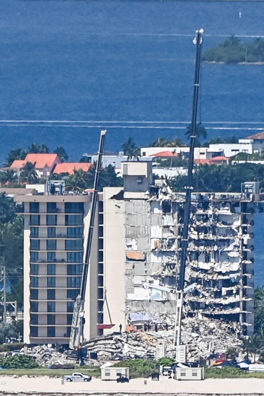 En Miami, demolerán lo que quedó del edificio derrumbado