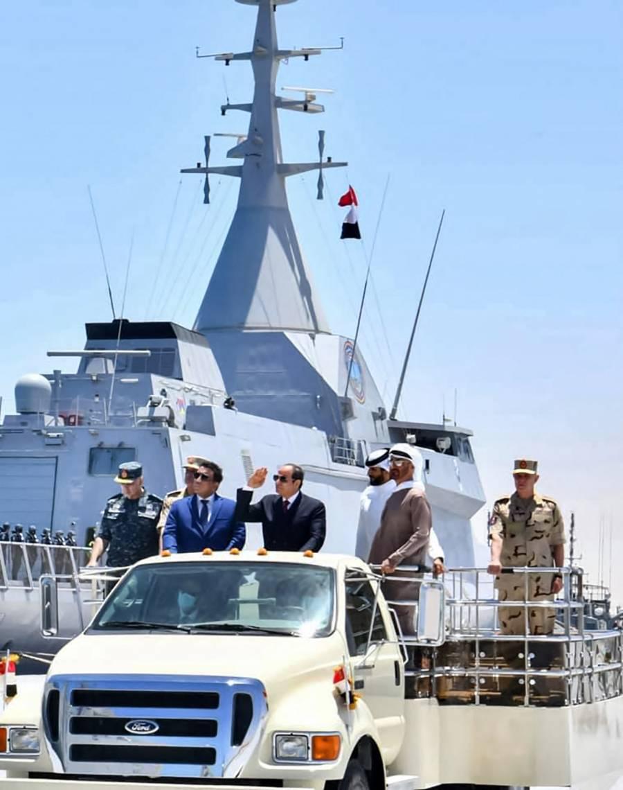 En el mar Mediterráneo, Egipto inaugura base naval