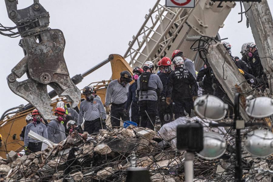 Hallan otros cuatro cuerpos tras colapso de edificio en Florida; suman 32 muertos