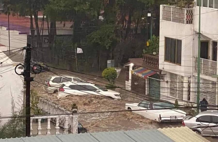 Lluvias dejan afectaciones en edificios de la CDMX y Edomex