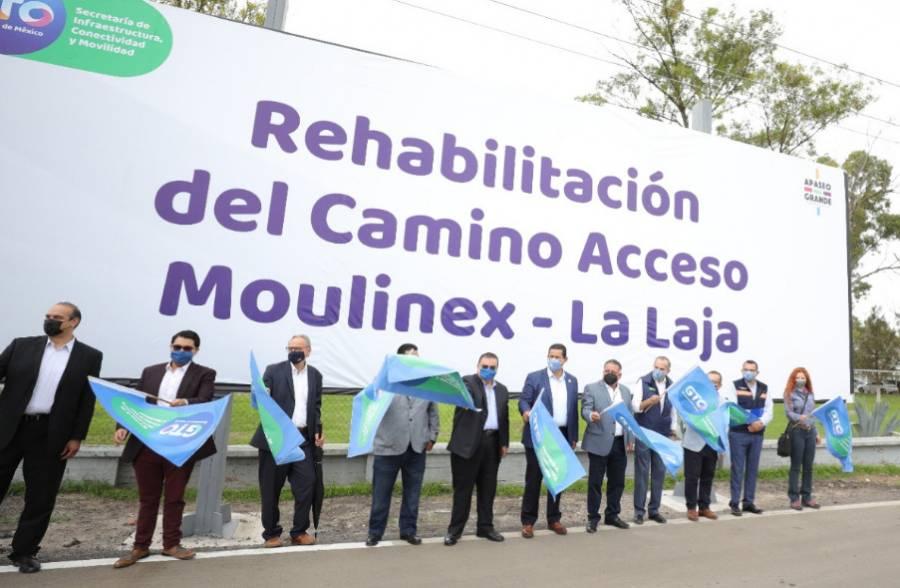 En Guanajuato, Diego Sinhue entrega camino rehabilitado