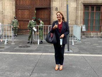 Anuncia gobernadora electa de Chihuahua que AMLO visitará el estado