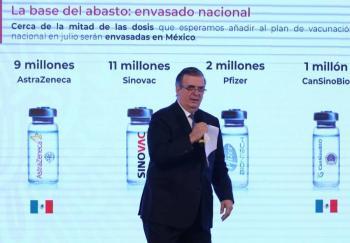 """A México le interesa adquirir """"Soberana"""", la vacuna cubana contra Covid: Ebrard"""