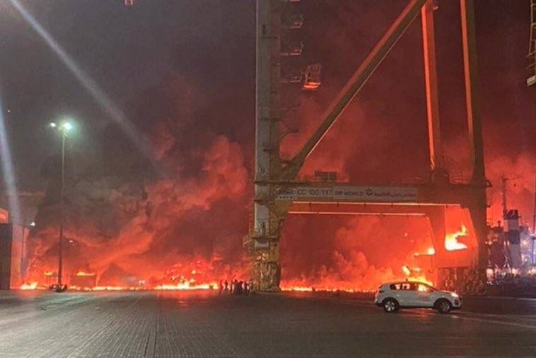 Explosión cimbra el puerto de Dubái
