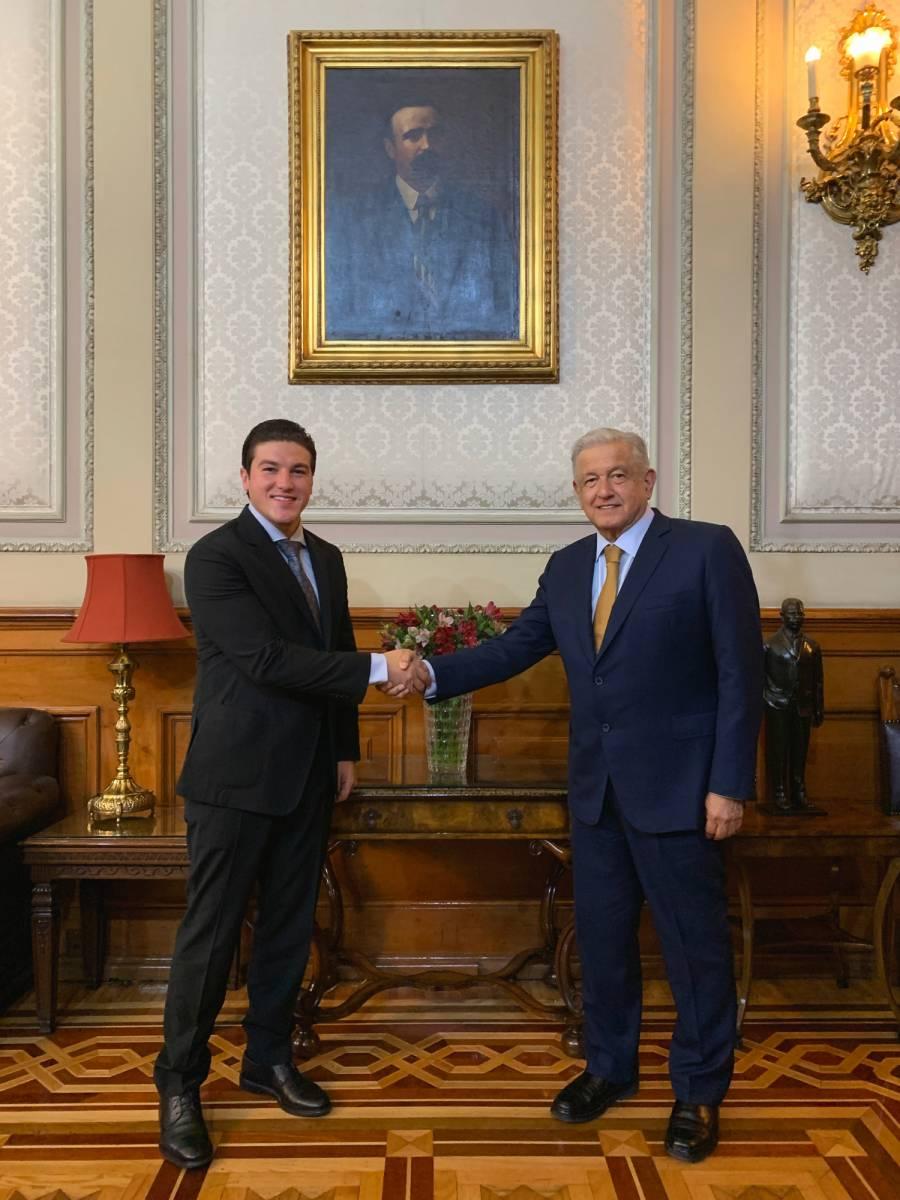 AMLO se reúne con Samuel García, gobernador electo de Nuevo León