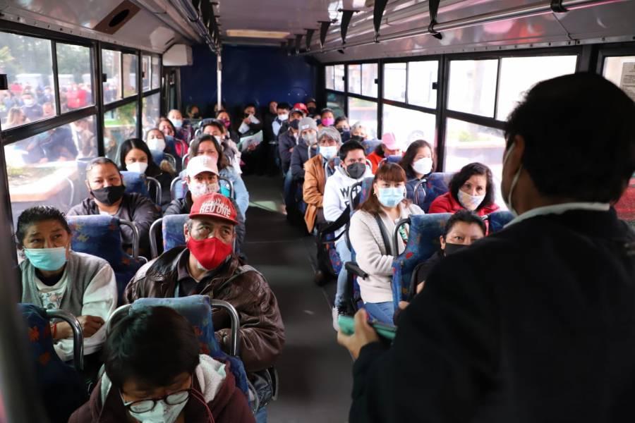 Cuajimalpa habilita transporte gratuito a su población para recibir vacuna contra el COVID-19