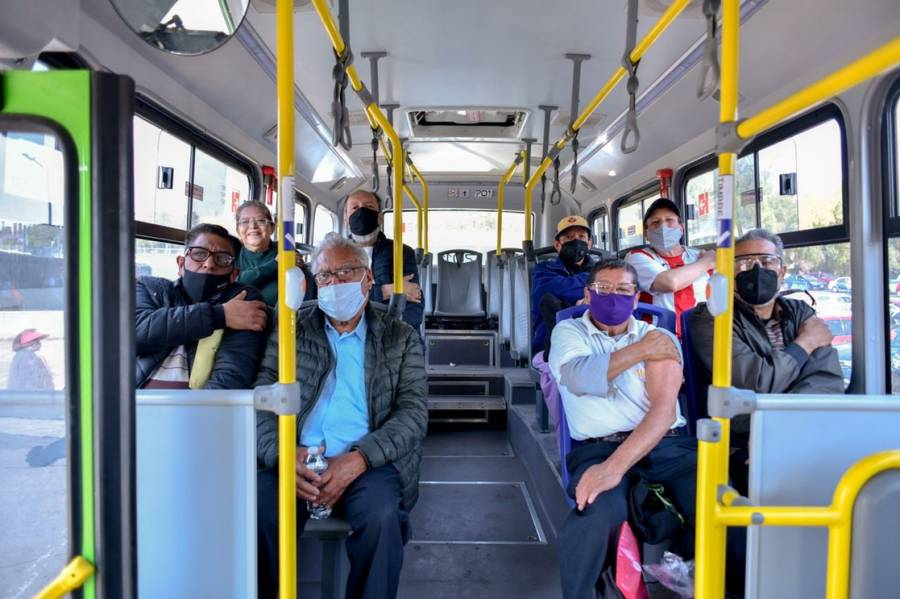 Cuajimalpa habilita transporte gratuito para acudir a vacunarse