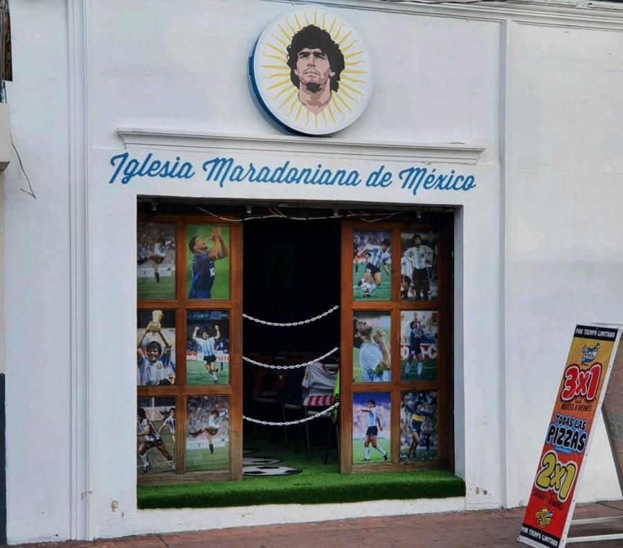En Puebla, se encuentra la segunda Iglesia dedicada a Diego Armando Maradona