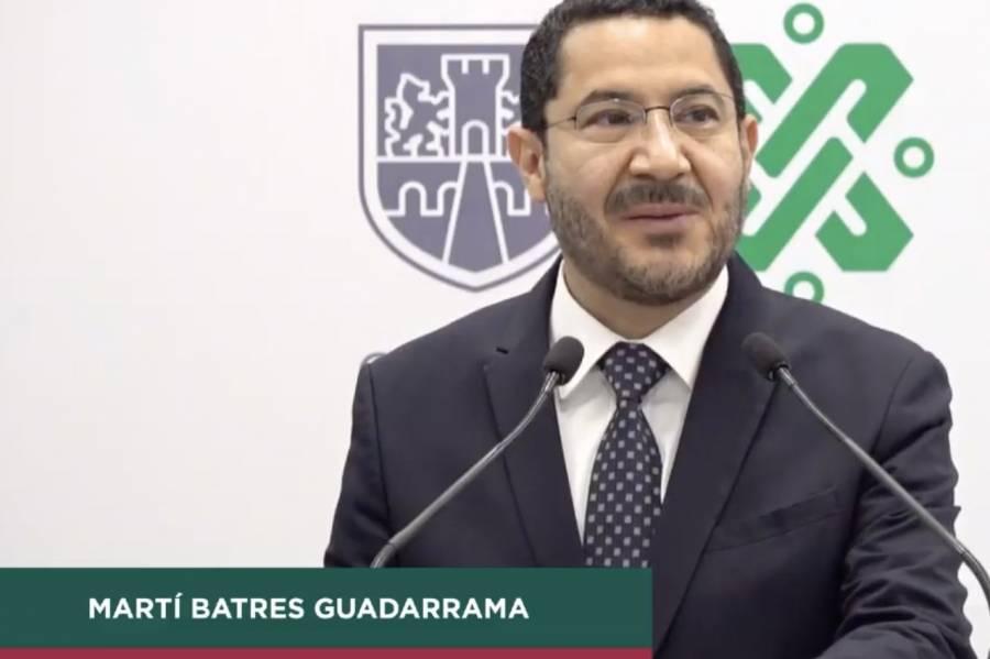 Martí Batres nuevo secretario de Gobierno de la CDMX